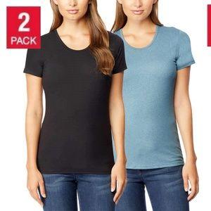 Women's Short Sleeve Scoop Neck T-Shirt 2-Pack